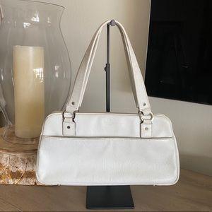 Vintage Kate Spade white leather shoulder bag